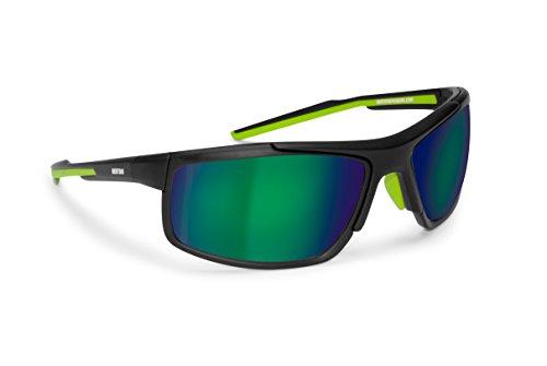 Occhiali sportivi con lente intercambiabile per Ciclismo Golf Running Sci Moto D180M by Bertoni Italy