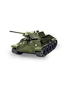 CLEVER PAPER-Tank T-34 Puzle 3D, Multicolor Keranova_199-02