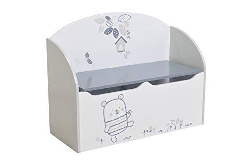 demeyere 341221 Toy Box MDF, weiss, 69,3 x 29,3 x 54,3 cm