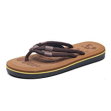 Slippers & amp da uomo;Sandali estate luce Soles Fleece Casual Khaki Rosso Nero sandali US10 / EU43 / UK9 / CN44