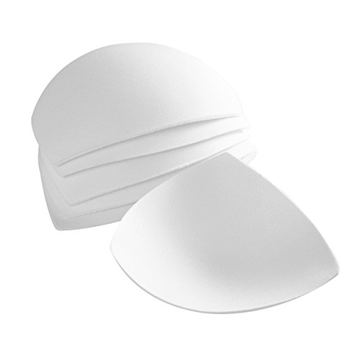 Tinksky Womens Removable Smart Cups Bra Inserts Pads For Swimwear Sports 3 Pair (White)