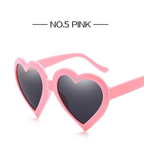 ZHOUYF Sonnenbrille Fahrerbrille Retro Herz Sonnenbrille Frauen Fashon Markendesigner Schöne Geformte Sonnenbrille Weibliche Schwarz Rot Rosa Gläser, E