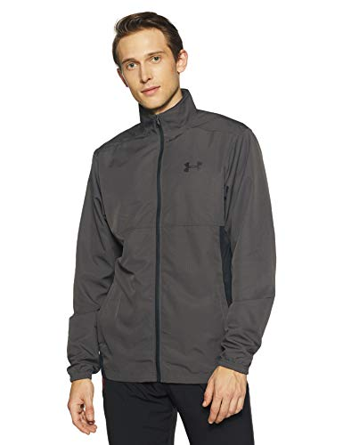 Under Armour Herren Sportstyle Woven FZ Jacket Oberteil, Charcoal/Black (019), XL -