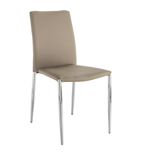 Wink design -Arecibo -pièce de 4 chaises marron - simili-cuir
