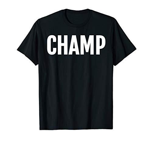 Champ Large Text T-Shirt Heros & Champions Award Tee (Hero Award)