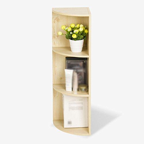 DFHHG® Estantería, estantería, tablero de aglomeración de color blanco de arce tres capas cuatro capas gabinete durable ( Tamaño : 24*24*80cm )