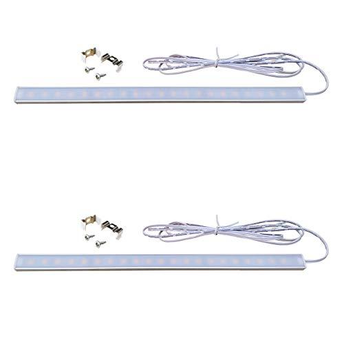 Pack de 2 piezas. baja tensión DC 12V LED luz de tira delgada, 31.5cm - 60.0cm, 4.5W - 8.0W, emisión blanco cálido, lámpara portátil, lámpara que acampa, Stall lámpara, cocina lámpara, gabinete lámpara (lámpara solamente,Transformador es no incluido) (4.5)