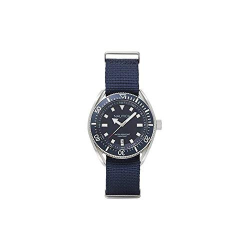 Nautica Men's Analogue Quartz Watch with Leather Strap NAPPRF009
