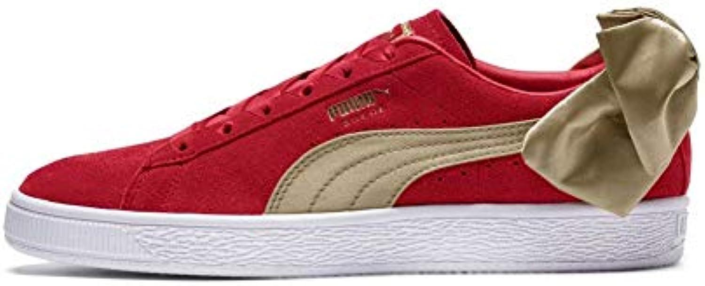 Zapatillas Puma – Suede Bow Varsity Wn´s Rojo/Dorado/Blanco Talla: 37,5