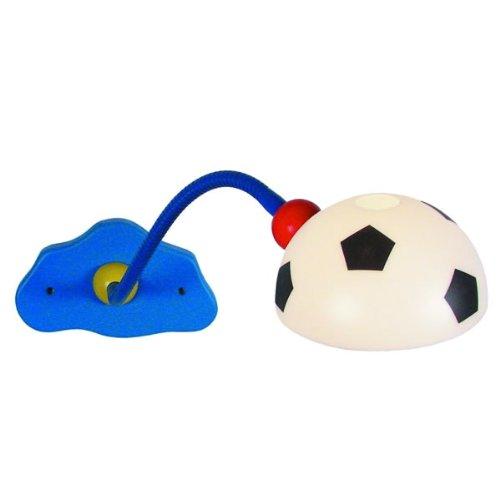 Niermann Standby 330 Wand-Leseleuchte Fußball, ca. 20 x 12 x 40 cm,1 x E14 - max.40 Watt, inklusiv Leuchtmittel, Schirm aus bruchsicherem Polycarbonat, mit felxiblen Arm, Made in Germany