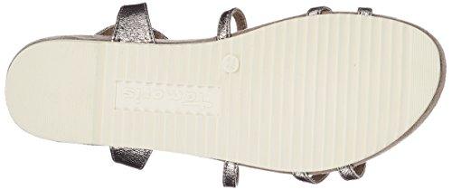 Tamaris Damen 28602 Slingback Sandalen Silber (Pewter)