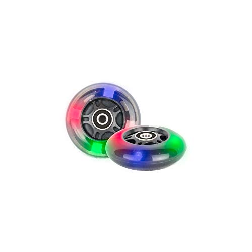 PU 80mm 2 ruedas iluminadas Inliner Skate Waveboard 3 LED ABEC 9 rodamientos