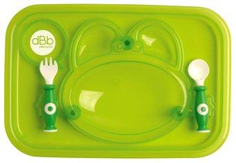 dBb Remond 217509 Set Tablett und Besteck (Gabel und Löffel), Grün transparent