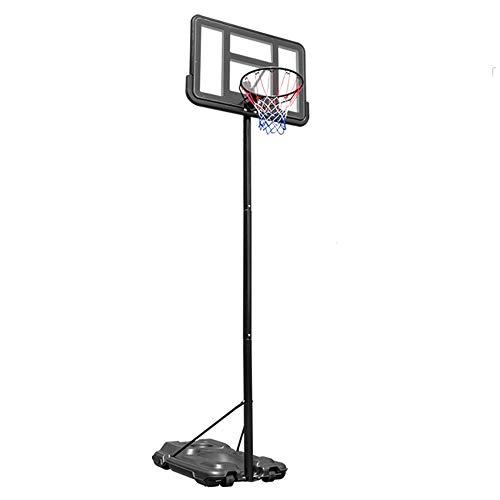 Pessica Kinderbasketballständer, Indoor-Basketballständer, Fahrbar, Hebbar, Basketballplatz, Mobiler Komfort,Adult