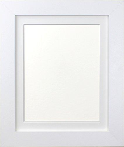 Frames By Post Weiß Foto Bild Poster Rahmen mit weißem Passepartout, holz, 39mm Frame, 50 x 70cm For Pic Size 24