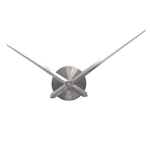 URAQT 3D Wanduhr Uhrwerk & Uhrzeigern Modern für die Wand, mit 2 Nadeln (weiß)