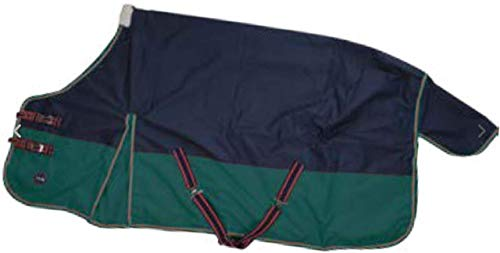 HKM Winter Weidedecke 200g blau/grün (145, blau/grün)