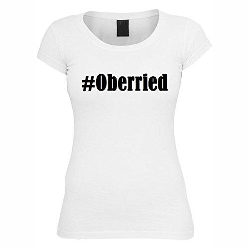 T-Shirt #Oberried Hashtag Raute für Damen Herren und Kinder ... in den Farben Schwarz und Weiss Weiß