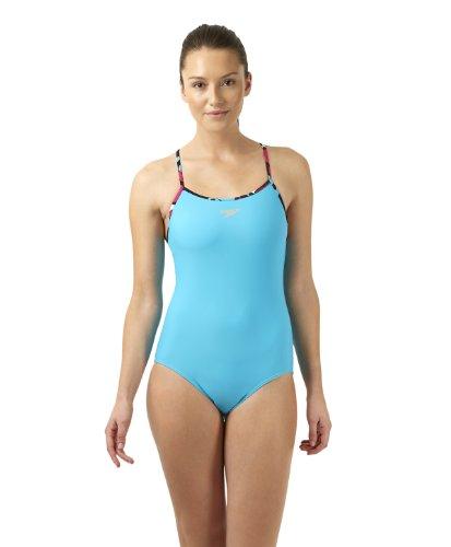 Speedo Damen Badeanzug PRT St Mleg Rlbk Af Blue Turquoise, 38