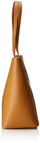 Chicca Borse 8610, Borsa a Spalla Donna, 40x38x14 cm (W x H x L) Marrone (Tan)