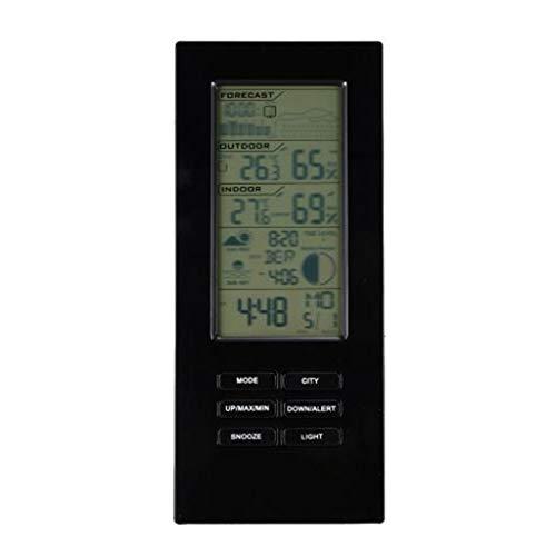 TangMengYun Farbdisplay-Wetterstationen Drahtloses Barometer Drahtlose Innen- und Außentemperatur-Feuchtemessgerät Wetterüberwachung (Größe : 17.5cm)
