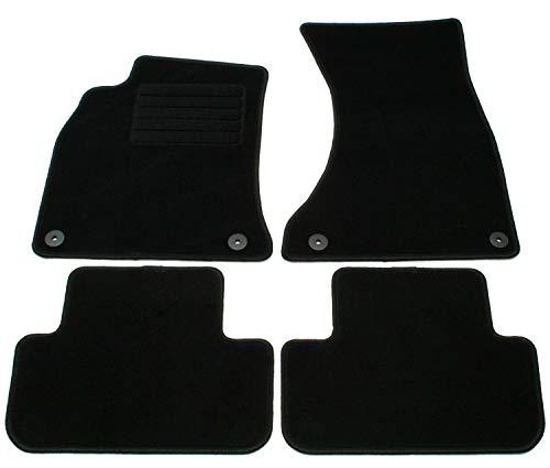 62 Velours Passform Fußmatten Set Schwarz Autoteppiche Teppiche Carpet Floor mats ()