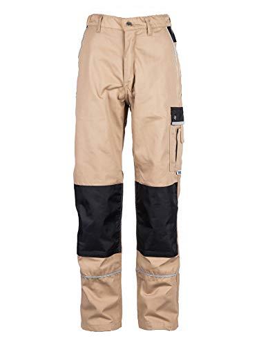 TMG® Arbeitshose Männer Khaki - Bundhose mit Kniepolster Taschen - Arbeitshose Herren EU54