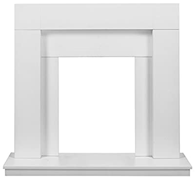 Adam Malmo Fireplace in Pure White and Black/White, 39 Inch