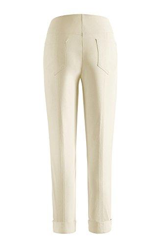 Stehmann - Stretchhose Igor 680 - mit EXTRA-Fashion Armreif - Umschlag und Gesäßtaschen - Schmale Pull-On Hose Champagne