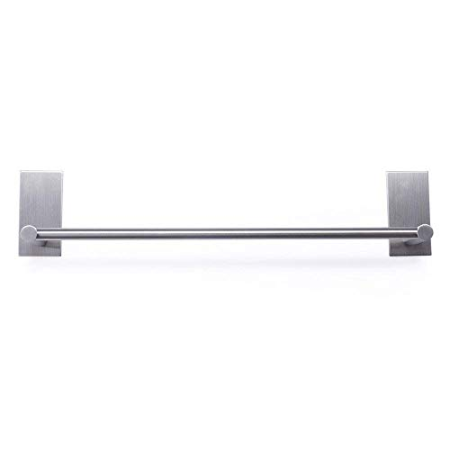 Eidoct - Toallero de 40 cm, acero inoxidable 304, resistente al óxido, para baño, cocina, almacenamiento organizador, soporte de pared, 3 m, autoadhesivo (base rectangular)