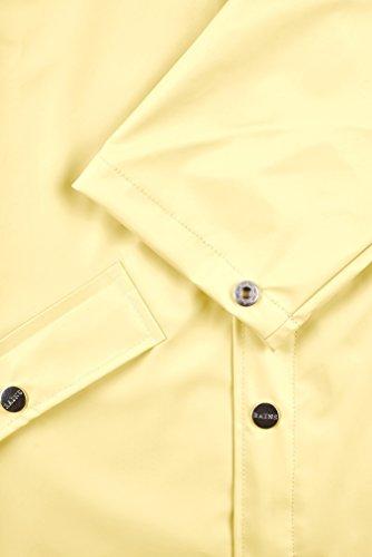RAINS Herren Regenmantel Long Jacket Yellow (Wax Yellow)