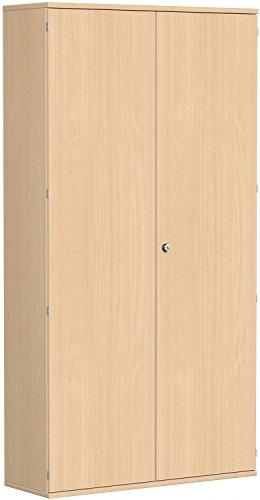 Garderobenschrank mit ausziehbarem Garderobenhalter, mit Mittelseite und 7 Dekor-Einlegeböden,...