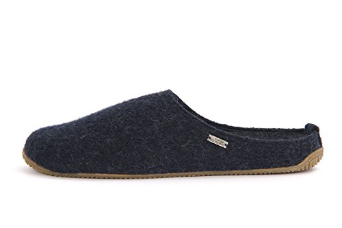 Living Kitzbühel Unisex-Erwachsene Walkpantoffel mit Fußbett Hohe Salve Pantoffeln Blau (Nachtblau)