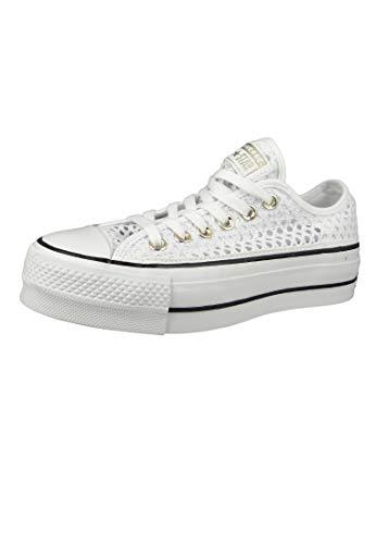 Converse, CTAS OX White/Black 564873C, Sneakers mit Plattform für Damen,37 (Converse-plattform)