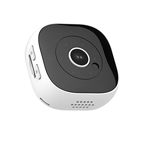 Spionagokamera, 1080p WiFi Wireless Indoor Home Small Hidden Security Camera Battery Powered Motion Detection/Night Vision,White
