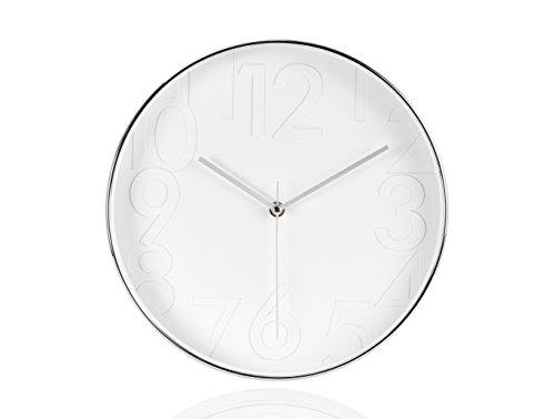 ANDREA HOUSE - Reloj Pared Marco Color Plateado Fondo