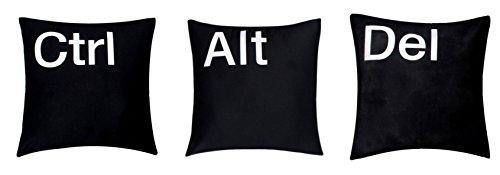 '' Ctrl Alt Del'' Set 3 Premium Qualität 100 % Twill Baumwolle schwarz 16