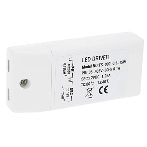 Busirde Ersatz-15W für LED-Streifen-Beleuchtung MR16 / MR11 LED-Treiber-Transformator 240 V 50/60 Hz bis 12 V DC Zubehör - 60 Hz Ersatz