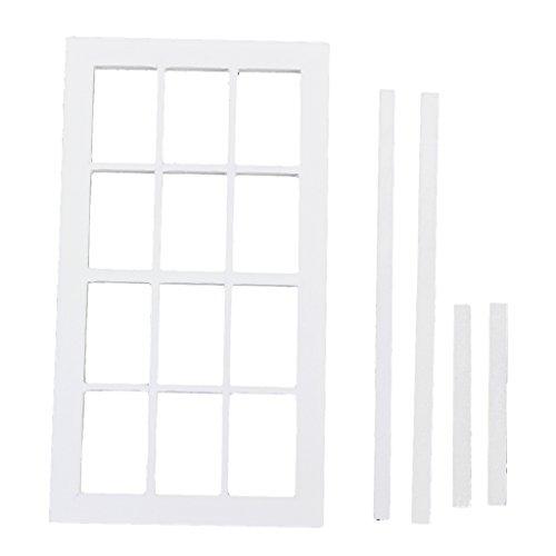 Preisvergleich Produktbild 1:12 Skala Puppen Haus Miniatur Aus Holz 12 Bereich Fenster Weiß