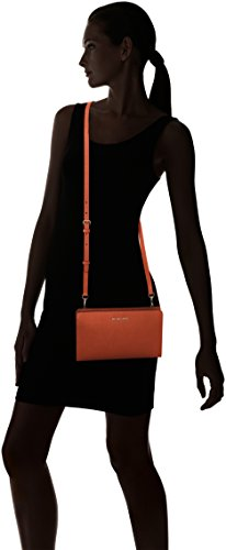 Michael Kors Damen Jet Set Travel Large Crossbody Clutch, 15x4x25 cm Orange