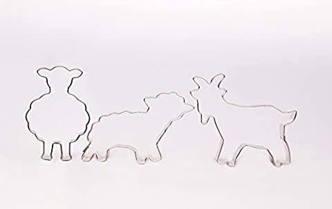 Standing Sheep, Sheep, Goat, Easter Cookie Cutters, Set of 3 Cookie Cutters