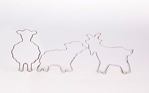 Mouton debout, mouton,, 3 pièces Pâques Emporte-Pièces, emporte-pièce en forme de chèvre