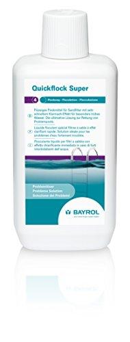 flockmittel pool BAYROL Quickflock Super - Flüssiges Flockmittel speziell für Sandfilter mit sehr schnellem Klarmach-Effekt für besonders trübes Wasser