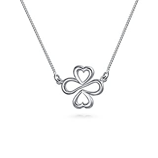 AYLLU Sterling Silver Heart Infinity Clover Symbol Pendant Necklace