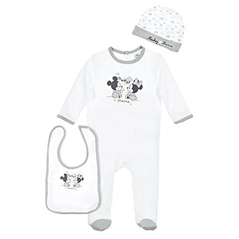 Set pyjama, bonnet et bavoir bébé mixte Minnie et Mickey