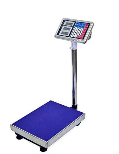 Balanza de Plataforma 150kg: Con una máx. capacidad de 150 kg, es una opción ideal para el pesaje de una amplia gama de materiales. La pantalla LCD es muy brillante y se puede leer claramente desde una cierta distancia. Esta escala es muy fácil de op...