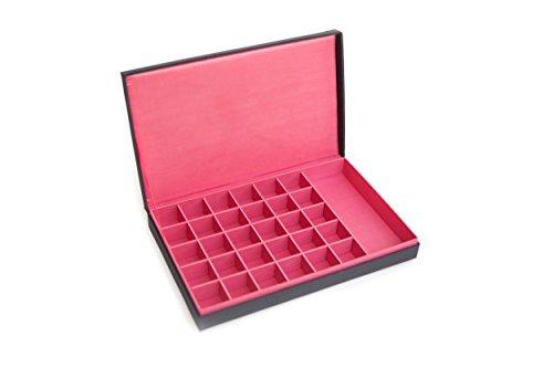 Seek-Unique-Caja-tamao-extra-grande-para-pendientes-y-cuenta-30-compartimentos-color-rojo
