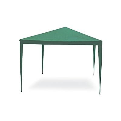 Gazebo facile verde 3×3 m. Struttura in acciaio copertura in pe. 110 gr/m².