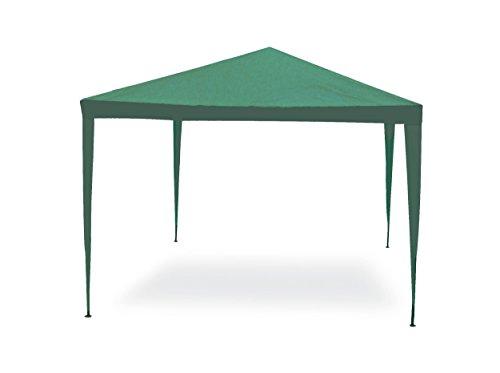 Gazebo facile verde 3x4 m struttura in acciaio copertura in pe 110 gr/m².