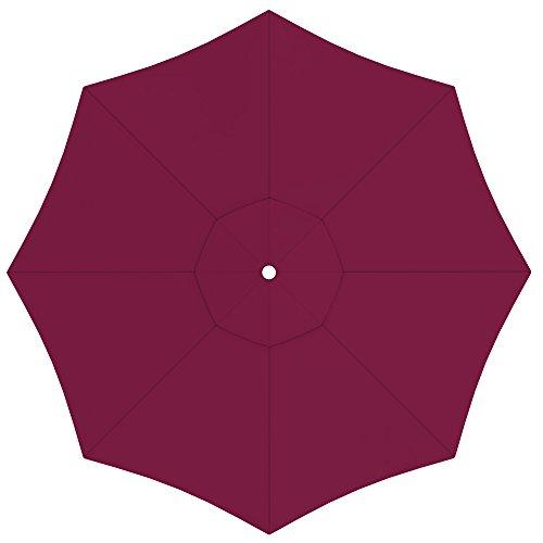 PARAMONDO Toile de rechange pour parasol avec Air Vent pour grand parasol Paragrandi (5m / ronde), bordeaux